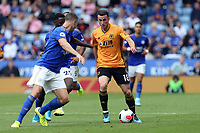 Diogo Jota of Wolverhampton Wanderers and Wilfred Ndidi of Leicester City during Leicester City vs Wolverhampton Wanderers, Premier League Football at the King Power Stadium on 11th August 2019