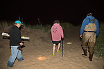 Jerry Hequembourg, Karen Strauss, & Mike Long Departing Horseshoe Crab Survey