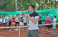 August 9, 2014, Netherlands, Rotterdam, TV Victoria, Tennis, National Junior Championships, NJK,  Prize giving, Richard Krajicek<br /> Photo: Tennisimages/Henk Koster