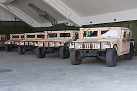 HMMWWs, Humwees or Hummers are seen during the presentation of the Coalition Support Fund for Hungary by the US military in Szolnok, Hungary on July 18, 2011. ATTILA VOLGYI