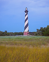 Cape Hatteras National Seashore, NC:  Cape Hatteras Lighthouse (1870) at dawn
