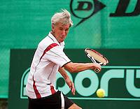 Netherlands, Amstelveen, August 21, 2015, Tennis,  National Veteran Championships, NVK, TV de Kegel,  Piet Boverhof<br /> Photo: Tennisimages/Henk Koster