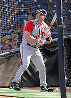Round Rock Express outfielder Luke Scott #30 during batting practice before the Triple-A All-Star Game at Fifth Third Field on July 10, 2006 in Toledo, Ohio.  (Mike Janes/Four Seam Images)