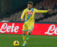 Dries Mertens    in action during the Italian Serie A soccer match between SSC Napoli and Genoa CFC   at San Paolo stadium in Naples, February 24 , 2014