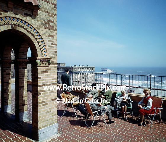 Senator Convalescent Center, Atlantic City, NJ - Rooftop sun deck with a view of the Steel Pier