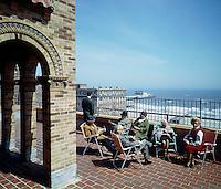 Senator Convalescent Center, Atlantic City, NJ - Rooftop sun deck with a view of the Steel Pier