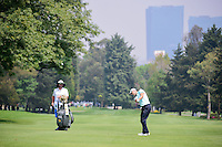 Martin Kaymer (DEU) hits his approach shot on 6 with Mexico City in the background during round 3 of the World Golf Championships, Mexico, Club De Golf Chapultepec, Mexico City, Mexico. 3/4/2017.<br /> Picture: Golffile | Ken Murray<br /> <br /> <br /> All photo usage must carry mandatory copyright credit (&copy; Golffile | Ken Murray)