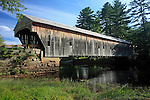 Hemlock Covered Bridge (1857), Fryeburg, Oxford County, Maine, USA