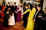 A Afghan-American family arrive at an engagement party at the Diamond Palace, in Fremont, Ca., on Saturday, March 7, 2009.