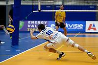 GRONINGEN - Volleybal, Abiant Lycurgus - Zaanstad, Alfa College , Eredivisie , seizoen 2017-2018, 28-10-2017 redding Lycurgus speler Daan Nieboer