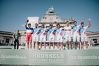 Team FDJ team presentation<br /> <br /> 97th Brussels Cycling Classic (1.HC)<br /> 1 Day Race: Brussels &gt; Brussels (201km)