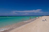 Beautiful blue water and beaches of Cubas best beach called Varadero in Cuba
