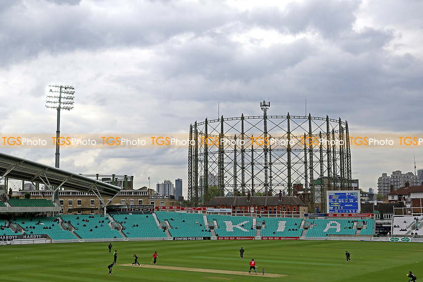 Play continues under the floodlights during Surrey vs Essex Eagles, Royal London One-Day Cup Cricket at the Kia Oval on 2nd May 2017