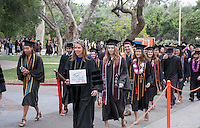 (Photo by Nick Harrington '17, Student Freelance)<br /> <br /> Occidental College Commencement ceremony for the class of 2016, May 15, 2016 in the Remsen Bird Hillside Theater.<br /> <br /> (Photo by Nick Harrington '17, Student Freelance)