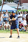 Alec Baldwin (The Doctors) and 30 Rock bats atbthe 63rd Annual Charity Softball Game 2011 - Artists versus Writers to benefit East Hampton Day Care Learning Center, East End Hospice and Phoenix Houses of Long Island - played at Herrick Park, East Hampton, New York. (Photo by Sue Coflin/Max Photos)