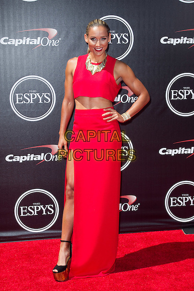 LOS ANGELES, CA - JULY 16: Lolo Jones at the 2014 ESPYs at Nokia Theatre L.A. Live in Los Angeles, California on July 16th, 2014.   <br /> CAP/MPI/mpi99<br /> &copy;mpi99/MediaPunch/Capital Pictures