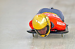 17 December 2010: Anja Huber sliding for Germany, finishes in 3rd place at the Viessmann FIBT Skeleton World Cup Championships in Lake Placid, New York, USA. Mandatory Credit: Ed Wolfstein Photo