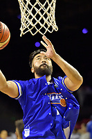Saints' Damien Ekenasio in action during the NBL - Wellington Saints v Canterbury Rams   at TSB Bank Arena, Wellington, New Zealand on Saturday 8 April 2017.<br /> Photo by Masanori Udagawa<br /> www.photowellington.photoshelter.com.