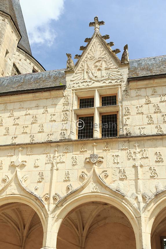 France, Indre (36), Argy, château d'Argy, les galeries renaissance // France, Indre, Argy, castle of Argy, the Renaissance Long Gallery