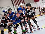 Jammer Flyon Maiden tries to break through the pack