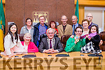 Swimming in Gold<br /> -------------------------<br /> Olympic gold medalist swimmer, Brendan O'Connell, from Tralee with his family at a civic reception in his honour at the Kerry County buildings, Rathass, Tralee last Monday afternoon, seated L-R, Ashling&amp;Bridie O'Connell, Mayor of Kerry, Pat McCarthy, with Brendan&amp;Aoife O'Connell. Back L-R Helen&amp;John O'Brien with Bridget, Mike, Tim, Elizabeth, and Michael (Jnr) O'Connell.
