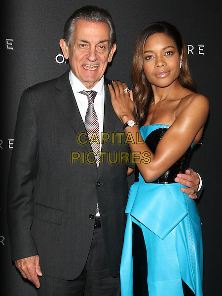 NEW YORK, NY - NOVEMBER 4: President of Omega Stephen Urquhart and actress Naomie Harris at Omega presents advance screening of 007 Spectre at AMC Lowes Lincoln Square 13 in New York City on November 4, 2015. <br /> CAP/MPI/RW<br /> &copy;RW/MPI/Capital Pictures