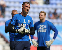Preston North End's Declan Rudd during the pre-match warm-up <br /> <br /> Photographer David Shipman/CameraSport<br /> <br /> The EFL Sky Bet Championship - Wigan Athletic v Preston North End - Monday 22nd April 2019 - DW Stadium - Wigan<br /> <br /> World Copyright © 2019 CameraSport. All rights reserved. 43 Linden Ave. Countesthorpe. Leicester. England. LE8 5PG - Tel: +44 (0) 116 277 4147 - admin@camerasport.com - www.camerasport.com