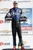 Verizon IndyCar Series<br /> Chevrolet Detroit Grand Prix Race 2<br /> Raceway at Belle Isle Park, Detroit, MI USA<br /> Sunday 4 June 2017<br /> Graham Rahal, Rahal Letterman Lanigan Racing Honda with both race winner trophies<br /> World Copyright: Michael L. Levitt<br /> LAT Images