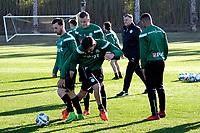 SOTOGRANDE  - Voetbal, Trainingskamp FC Groningen, seizoen 2017-2018, 12-01-2018,  FC Groningen speler Lars Kramer en FC Groningen speler Michael Breij