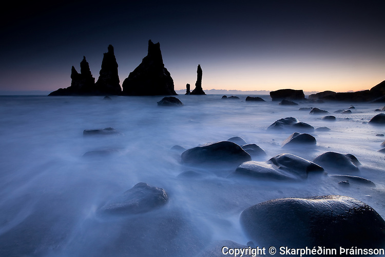 The Hidden Castle - Reynisdrangar pinnacles in Vík, Mýrdalur south coast Iceland