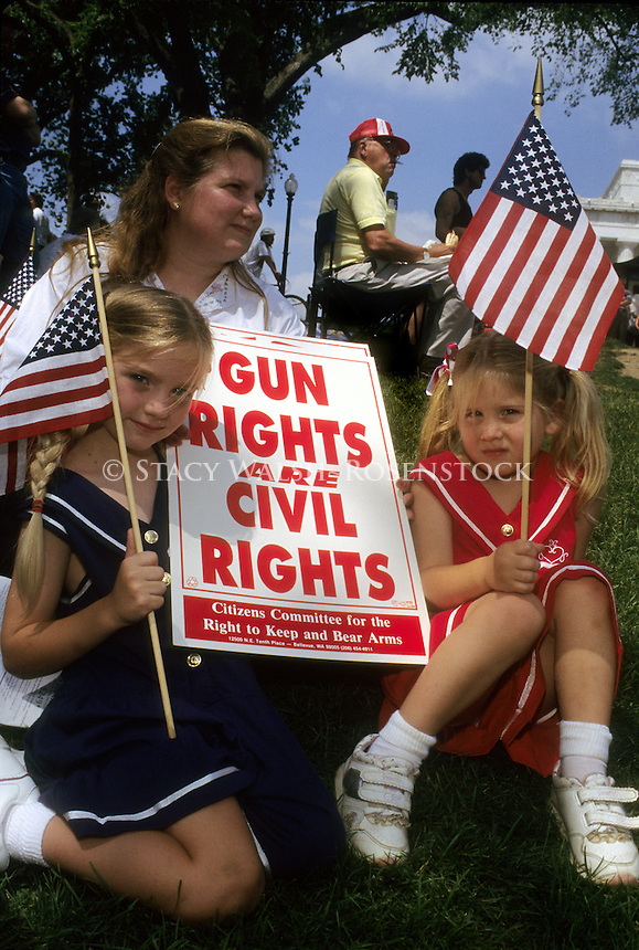 WASHINGTON, DC - 4 June 1995 - Citizen's Committee For the Right to Keep and Bear Arms (CCRKB) rally on the Washington Mall in support of the Second Ammendment to keep and bear arms.