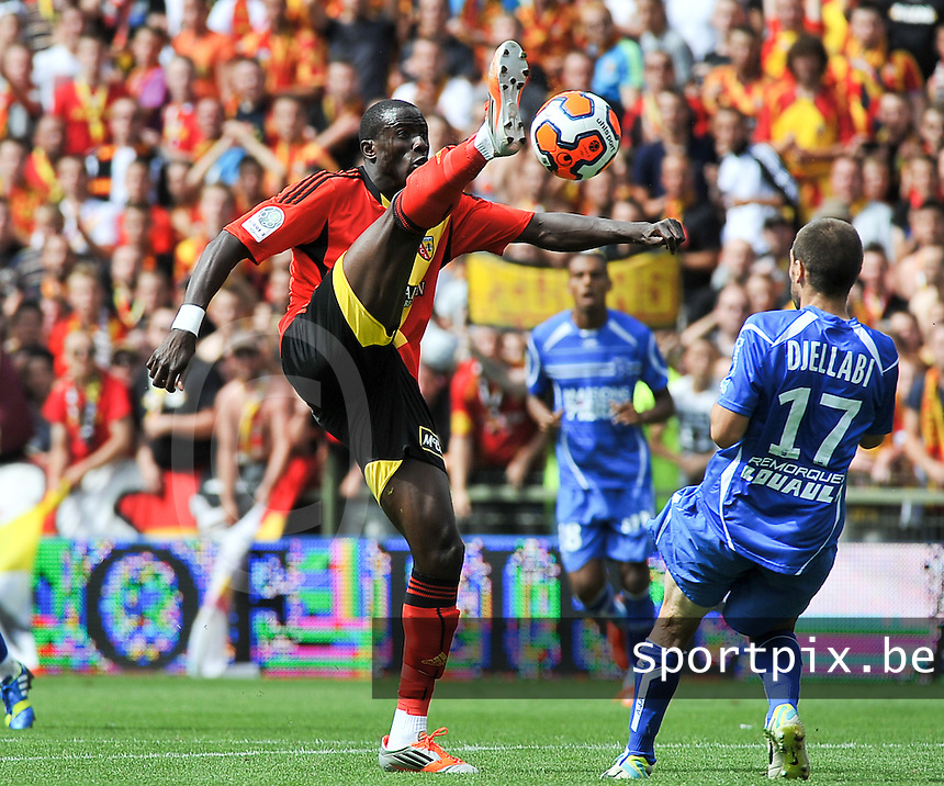 RC Lens - AJ Auxerre : Adamo Coulibaly<br /> foto David Catry / nikonpro.be
