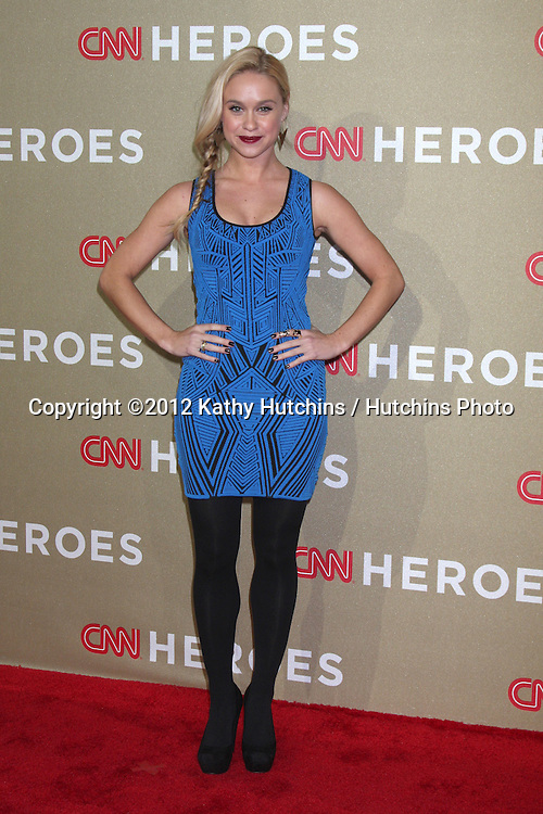 LOS ANGELES - DEC 2:  Becca Tobin arrives to the 2012 CNN Heroes Awards at Shrine Auditorium on December 2, 2012 in Los Angeles, CA