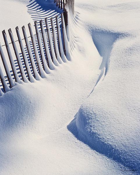 Winter Scene - Snow Fence