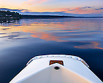 Puget Sound, Carr Inlet<br /> Mayo Cove with sailboat view from dinghy