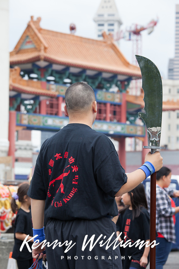 Tai Chi, Kung Fu, Chinese Martial Artist, Dragon Fest 2015, Chinatown, Seattle, Washington, USA