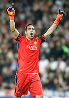 FC Barcelona's Claudio Bravo celebrates goal during La Liga match. November 21,2015. (ALTERPHOTOS/Acero) /NortePhoto