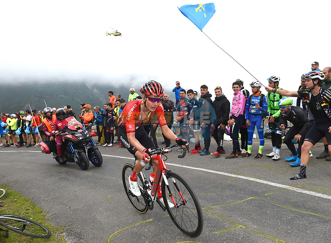 Wilco Kelderman (NED) Team Sunweb on the final climb of Stage 16 of La Vuelta 2019  running 144.4km from Pravia to Alto de La Cubilla. Lena, Spain. 9th September 2019.<br /> Picture: Karlis | Cyclefile<br /> <br /> All photos usage must carry mandatory copyright credit (© Cyclefile | Karlis)