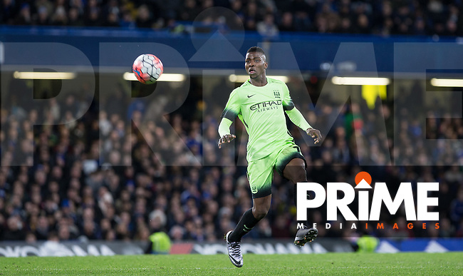 Kelechi Iheanacho of Man City in action during the FA Cup 5th round match between Chelsea and Manchester City at Stamford Bridge, London, England on 21 February 2016. Photo by Andy Rowland.