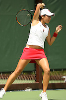 23 May 2006: Jessica Nguyen during Stanford's 4-1 win over the Miami Hurricanes in the 2006 NCAA Division 1 Women's Tennis Team Championships at the Taube Family Tennis Stadium in Stanford, CA.
