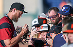 Sacramento River Cats&rsquo; Hunter Pence signs autographs before a game against the Reno Aces at Greater Nevada Field in Reno, Nev., on Tuesday, July 26, 2016.  <br />Photo by Cathleen Allison