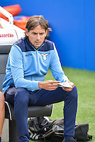 Simone Inzaghi manager of Lazio during the Friendly match between Brighton and Hove Albion and Lazio at the American Express Community Stadium, Brighton and Hove, England on 31 July 2016. Photo by Edward Thomas / PRiME Media Images.
