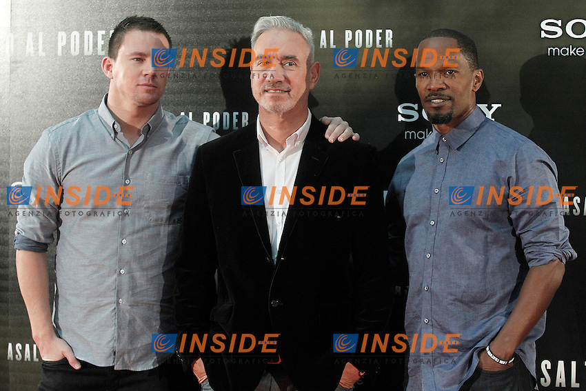 Channing Tatum, il regista Ronnald Emmerich e Jamie Foxx<br /> Madrid 04-09-2013 Photocall del film Assalto al Potere - White House Down.<br /> Photo ALTERPHOTOS/Acero/Insidefoto