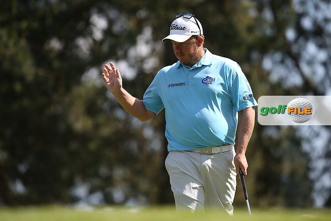 George Coetzee (RSA) made par during Round One of the 2015 BMW PGA Championship over the West Course at Wentworth, Virginia Water, London. Picture David Lloyd, www.golffile.ie: 21/05/2015