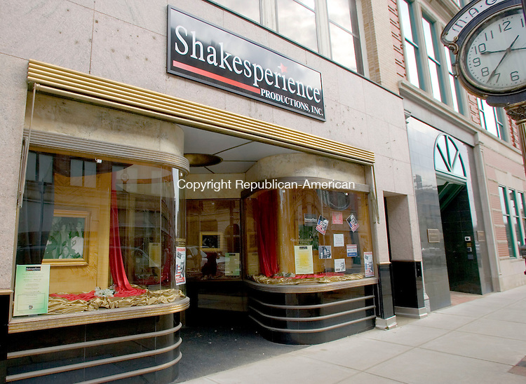 WATERBURY, CT- 13 MARCH 07- 031307JT05- <br /> Shakesperience at 117 Bank St. in Waterbury has spruced up their building with the help of downtown revitalization advocates.<br /> Josalee Thrift Republican-American