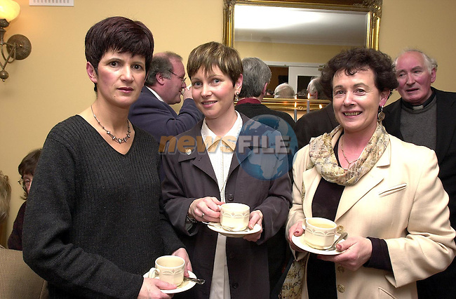 Nuala Clayton, Ann Burke and Christine all from Termonfeckin at the opening of the new coffee shop in An Grianan, Termonfeckin..Picture Paul Mohan Newsfile