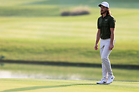 Tommy Fleetwood (ENG) on the 18th green during the 3rd round at the WGC HSBC Champions 2018, Sheshan Golf CLub, Shanghai, China. 27/10/2018.<br /> Picture Fran Caffrey / Golffile.ie<br /> <br /> All photo usage must carry mandatory copyright credit (&copy; Golffile | Fran Caffrey)
