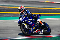 8th July 2020; Circuit de Barcelona Catalunya, Barcelona, Spain; FIM Superbike World Championship tests;  Day One; Steven Odendaal of the EAB Ten Kate Racing in action with the Yamaha YZF R6