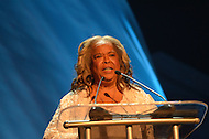 "August 26, 2011 (Washington, DC)    Actress and vocalist Della Reese presents at the ""M.L.K.: A Monumental Life"" tribute to Martin Luther King Jr. at the D.A.R. Constitution Hall in Washington.  The event, presented by Alpha Phi Alpha Fraternity, was a theatrical and musical celebration honoring Dr. King.  (Photo by Don Baxter/Media Images International)"