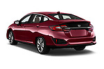 Car pictures of rear three quarter view of a 2018 Honda Clarity Plug-In Hybrid 4 Door Sedan angular rear